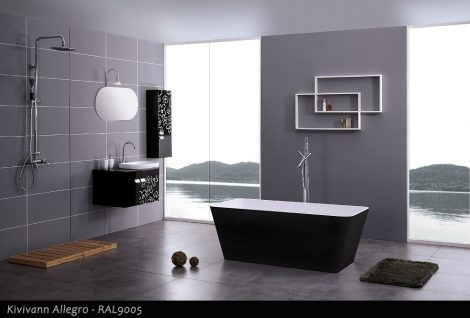 Kivivann Allegro RAL9005