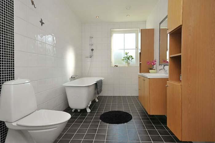 Scandinavian Design Bathroom: Universaalplaat Mineral Anthracite
