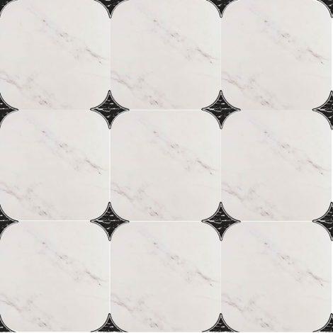 Texas põrandaplaat must valge marmor
