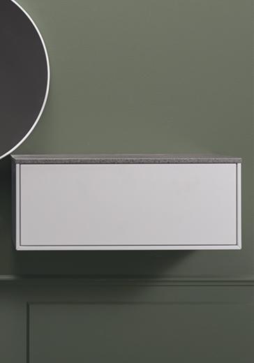 Vannitoa mööbel Edge küljemoodul valge