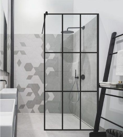 Baltijos Brasta musta raamiga dušisein Ema Cube