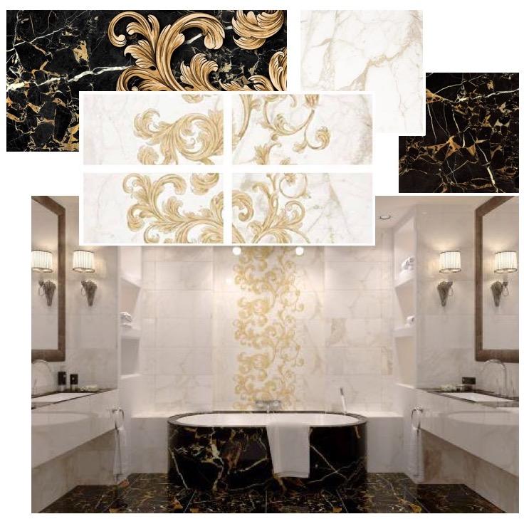 Saint laurent keraamilised plaadid kollektsioon, vannituba
