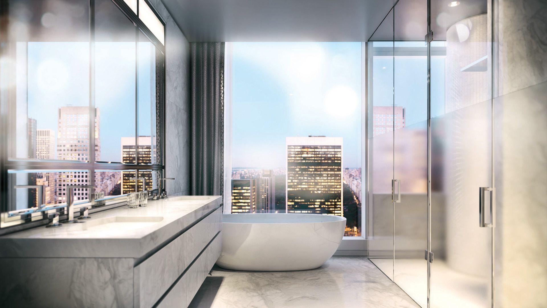 vannituba kujundusideed LINTMAN linnavaatega marmorist vannituba