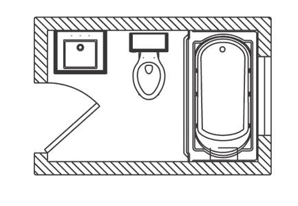 Väike vannituba ruumi planeerimine, vannitoa plaan