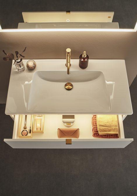 Vannitoamööbel Shape 900, sahtli valgustus