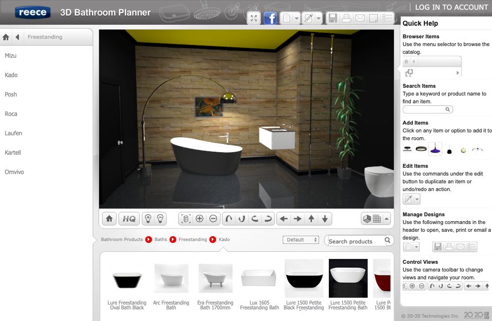 3D joonis vannitoa disain