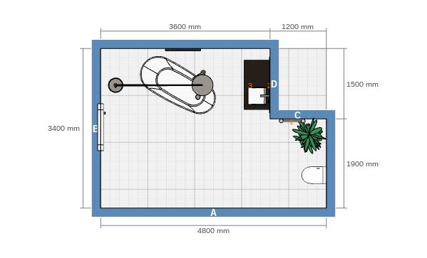 3D vannitoa disain 2D põranda plaan
