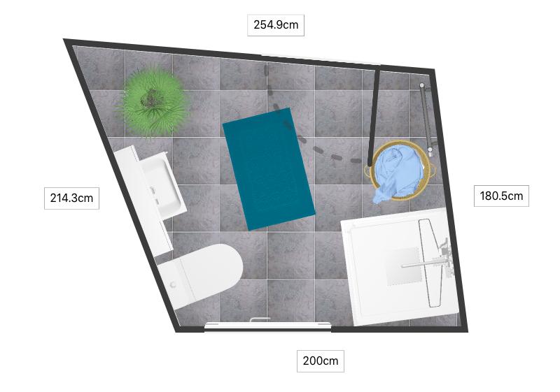 2D vannitoa põranda plaan