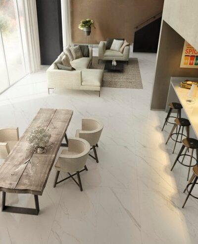 marmor põrandaplaat elutoas