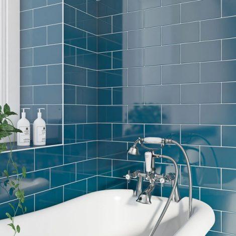Seinaplaat Metrotiles Blue sinine meetrooplaat
