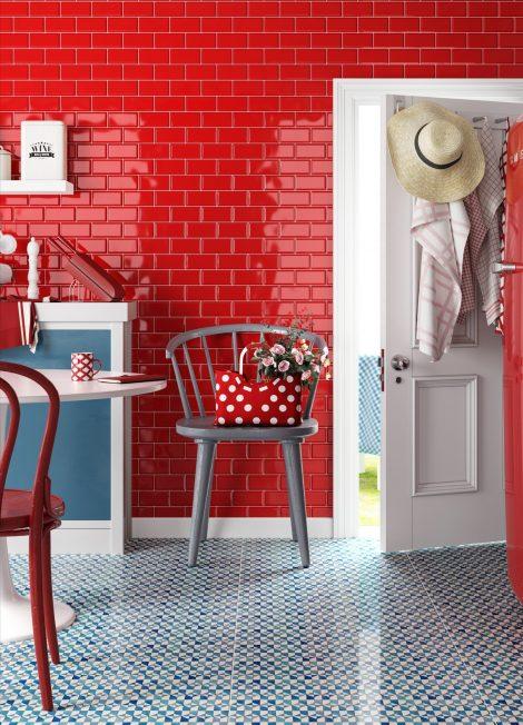 Seinaplaat Metrotiles Red punane metrooplaat