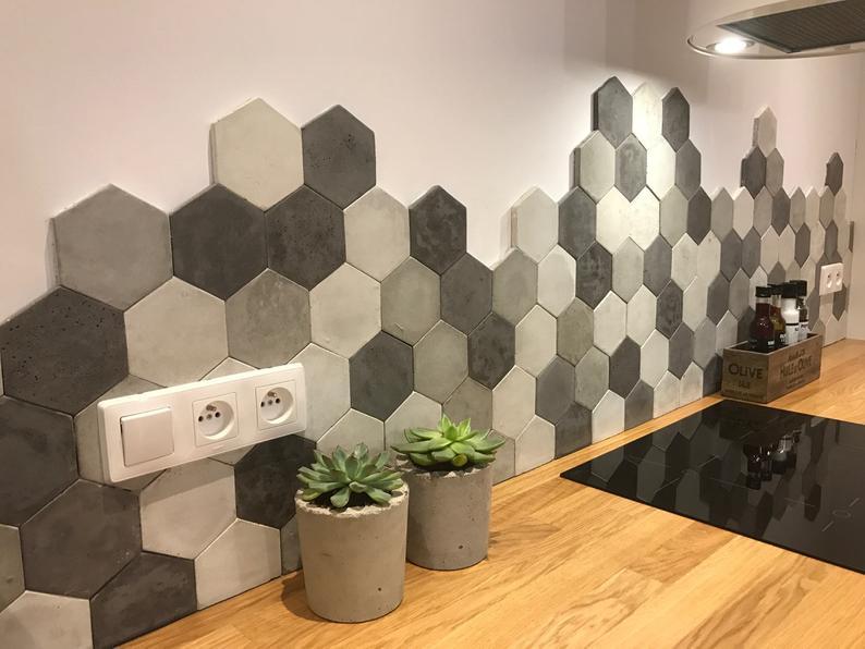 Hexagon köögi plaadid