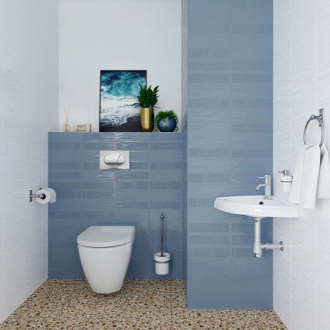 Seinaplaat Metro Blue 2D