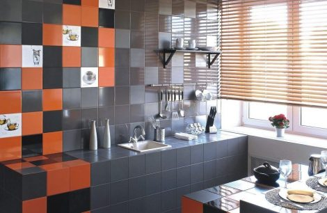 Seinaplaat San Remo Orange Glossy