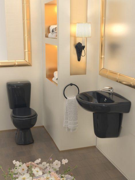 Grand must wc-pott ja pooljalaga valamu