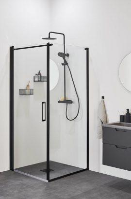 Mustade profiilidega skandinaavia dušinurk Frost Concept Black