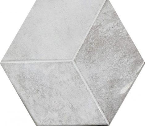 Heksagoon seinaplaat Kingsbury Blanco Hexagon