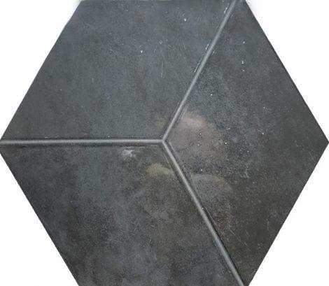 Heksagoon seinaplaat Kingsbury Grafito Hexagon