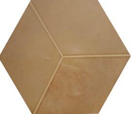 Seinaplaat Kingsbury Ocre Hexagon